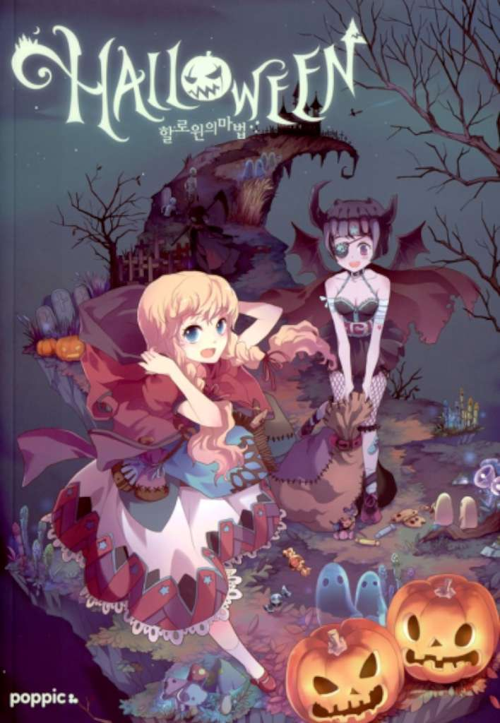 Artbook poppic Halloween Theme Illustration Book